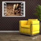 Creative 3D Fake Windows Wall Stickers Halloween Zombie Living Room Decoration