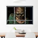 Creative 3D Fake Windows Wall Stickers Halloween Zombie Stickers