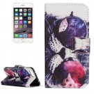 For iPhone 8+&7+ Glasses Cat Leather Case with Holder, Card Slots & Wallet