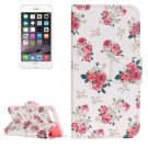 For iPhone 8+&7+ Painting Rose Leather Case with Holder, Card Slots & Wallet