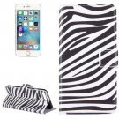 For iPhone 8+&7+ Zebra Stripes Leather Case with Holder, Card Slots & Wallet