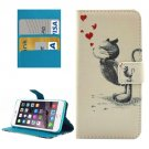 For iPhone 8+&7+ Little Squirrel Leather Case with Holder, Card Slots & Wallet