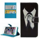 For iPhone 8+&7+ Painting Tie Leather Case with Holder, Card Slots & Wallet