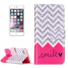 For iPhone 8+&7+ Smile Pattern Leather Case with Holder, Card Slots & Wallet