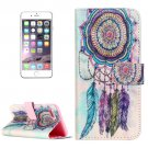 For iPhone 8+&7+ Dream Catcher Pattern Leather Case with Holder, Card Slots & Wallet