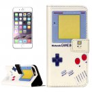 For iPhone 8+&7+ Game Boy Pattern Leather Case with Holder, Card Slots & Wallet