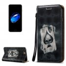 For iPhone 8+&7+ 3D Relief Poker Leather Case with Holder, Card Slots & Lanyard