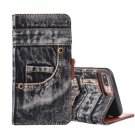 For iPhone 8+&7+ Denim Leather Case with Holder, Card Slots & Wallet - 2 colors