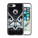 For iPhone 8+ & 7+ Male Owl Pattern TPU + PC Relief Combination Case