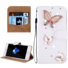 For iPhone 8+ & 7+ Butterfly Diamond Magnetic Leather Case with Holder, Card Slots