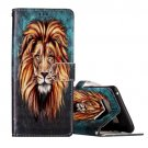 For Galaxy Note 8 Lion Pattern Leather Case with Holder, Card Slots & Wallet