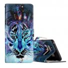 For Galaxy Note 8 Wolf Pattern Leather Case with Holder, Card Slots & Wallet