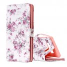 For Galaxy Note 8 Rose Pattern Leather Case with Holder, Card Slots & Wallet