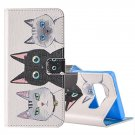 For Galaxy Note 8 3 Cats Pattern Leather Case with Holder, Card Slots & Wallet