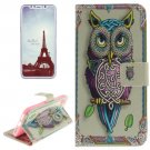 For iPhone X Owl Pattern Flip Leather Case with Holder, Card Slots & Wallet