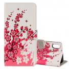 For iPhone X Blossom Pattern Flip Leather Case with Holder, Card Slots & Wallet