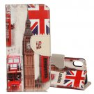 For iPhone X Big Ben Pattern Flip Leather Case with Holder, Card Slots & Wallet