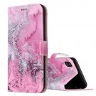 For iPhone X Seawater Flip Leather Case with Holder, Card Slots & Wallet