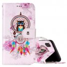 For iPhone X Dream Catcher Owl Flip Leather Case with Holder, Card Slots & Wallet