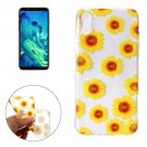 For iPhone X Chrysanthemum Pattern TPU Protective Case