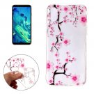 For iPhone X Pink Plum Blossom Pattern TPU Protective Case