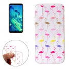 For iPhone X Multicolor Flamingo Pattern TPU Protective Case