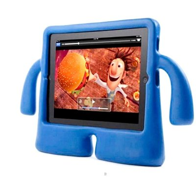 For iPad 4/3/2 Blue Speck iGuy STYLE Free-Standing Foam Protective Case