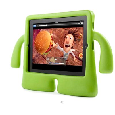 For iPad 4/3/2 Green Speck iGuy STYLE Free-Standing Foam Protective Case