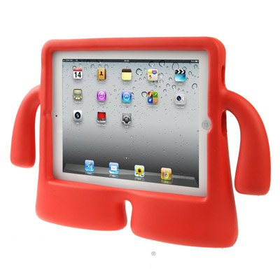 For iPad 4/3/2 Red Speck iGuy STYLE Free-Standing Foam Protective Case