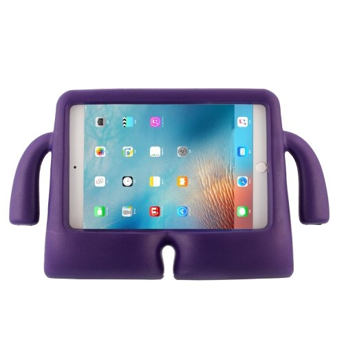 For iPad mini 4/3/2/1 Purple EVA Little Hands TV Model Shockproof Protective Cover Case