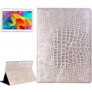 For Galaxy Tab S 10.5 Light Gre Crocodile Texture Flip Leather Case with Holder