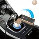 Gold Multifunctional Bluetooth Car Charger with Car Full Frequency FM Transmitter