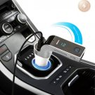 Silver Multifunctional Bluetooth Car Charger with Car Full Frequency FM Transmitter