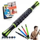 Yoga Health Care Nine Rollers Neck Leg Hand 3D Muscle Massage Stick, Random Color Delivery