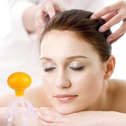 Mini Five Claws Design Head Plastic Scalp Massager, Random Color Delivery