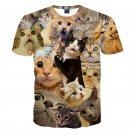 Man 3D T-Shirt Funny Cat Print T-shirt