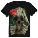 Digital Skull 3D Printed Casual Creative Short Sleeve Top T-shirt