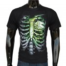 Creative 3D Skeleton Print Male Cotton Short Sleeve T-Shirt
