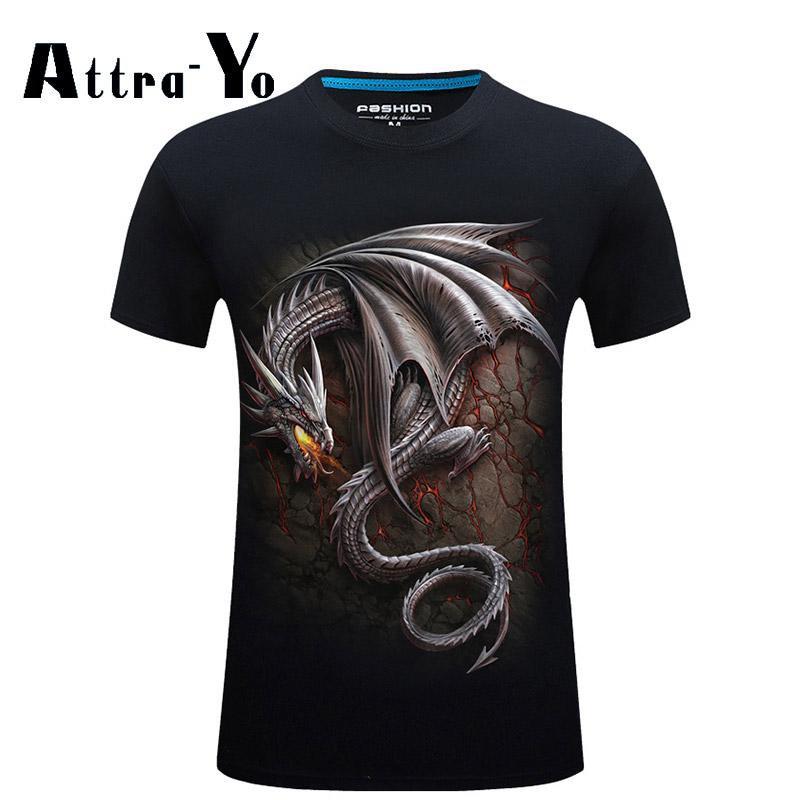 3D Men's Short Sleeved Printed T-shirts - 2 colors