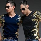 Summer Men's Short Sleeve Print T-Shirt - 3 colors