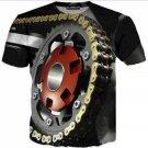 Unisex Motor Heavy Metal Skull Retro Funny Casual T-Shirt