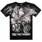 Eagle Scooter Printed Pure Cotton Round Collar Men's Short-sleeved T Shirt