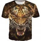 Tiger 3D 2 Sides Printing Tees Shirt Short Sleeve T-Shirt