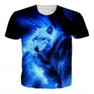 Fashion Summer 3D 2 Sides Printed Animal Wolf T-shirt