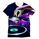 2 Sides Print DJ Console T-shirt Men's Graphic Round Neck Hip Hop Shirts