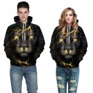Lion Digital 2 Sides Printing Unisex Models Long Sleeve Hooded Sweater