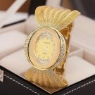 Luxury Oval Dial Mesh Strap Crystal Women Dress Watches - 2 colors