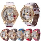 Tower Vogue Fashion Bright Faux Leather Strap Watches - 6 colors