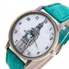 Fashion Women's Building Cowboy Band Analog Quartz Wrist Watch - 8 colors