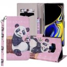 For Galaxy Note 9 Panda Horizontal Flip Leather Case with Holder, Card Slots & Wallet